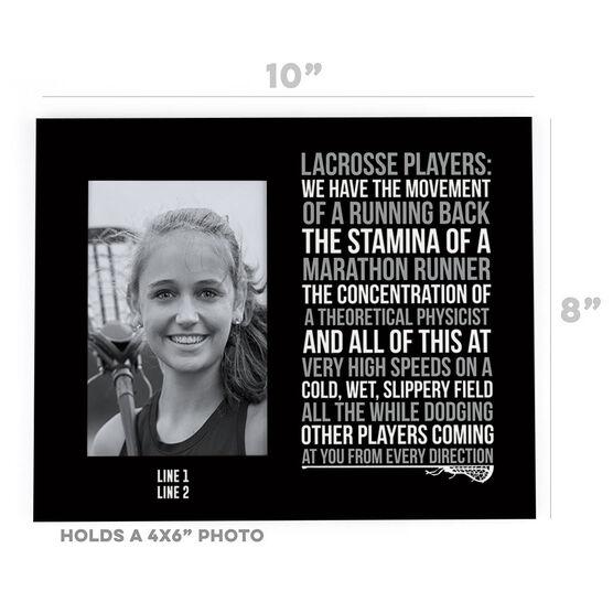 Girls Lacrosse Photo Frame - Lacrosse Players