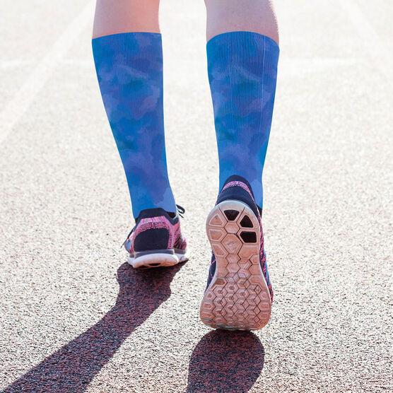 Printed Mid-Calf Socks - Watercolor