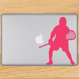 Lacrosse Goalie Removable ChalkTalkGraphix Laptop Decal