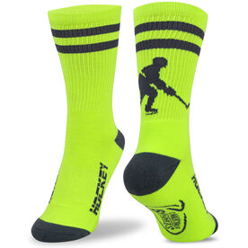 Hockey Woven Mid Calf Socks - Player (Neon/Gray)