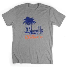 Guys Lacrosse Short Sleeve T-Shirt - Chillax'n Beach Guy