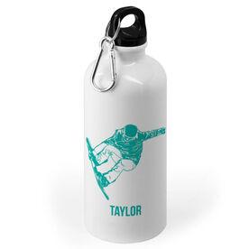 Snowboarding 20 oz. Stainless Steel Water Bottle - Snowboarder Silhouette