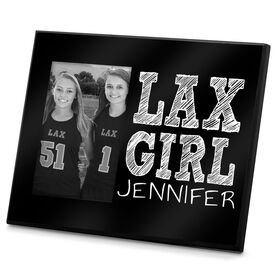 Girls Lacrosse Photo Frame Personalized Lax Girl