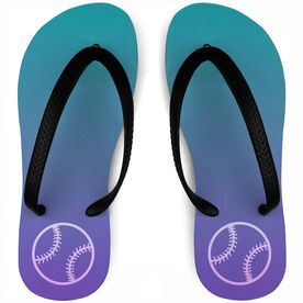 Softball Flip Flops Sunset