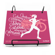BibFOLIO® Race Bib Album - Believe Triathlon Girl