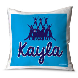 Cheerleading Throw Pillow Personalized Cheer Team I Love To Cheer