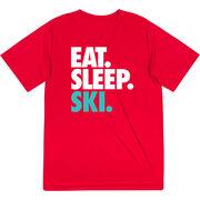 Skiing & Snowboarding Short Sleeve Performance Tee - Eat. Sleep. Ski.