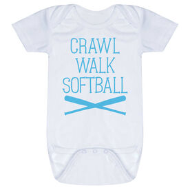 Softball Baby One-Piece - Crawl Walk Softball
