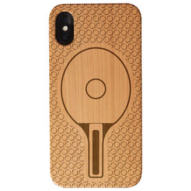 Ping Pong Engraved Wood IPhone® Case - Ping Pong Paddle