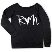 Running Fleece Wide Neck Sweatshirt - Run Heart