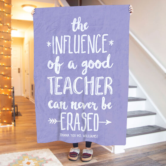 Personalized Teacher Premium Blanket - Never Be Erased