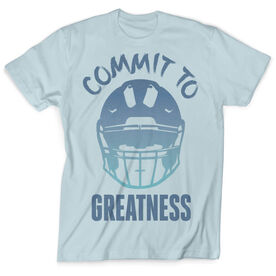 Vintage Football T-Shirt - Helmet Commit To Greatness