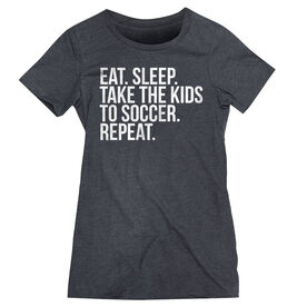 Soccer Women's Everyday Tee - Eat Sleep Take The Kids To Soccer