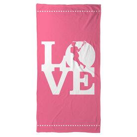 Lacrosse Beach Towel Love Lacrosse Girl
