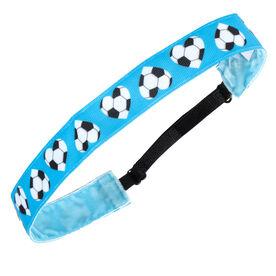 Soccer Juliband Non-Slip Headband - Soccer Heart Blue