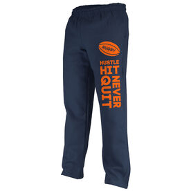 Rugby Fleece Sweatpants Rugby Hustle Hit Never Quit