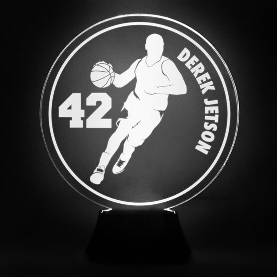 Basketball Acrylic LED Lamp B-ball Guy With Name and Number