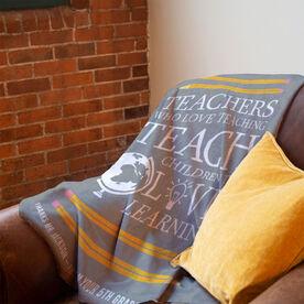 Personalized Premium Blanket - Love Teaching