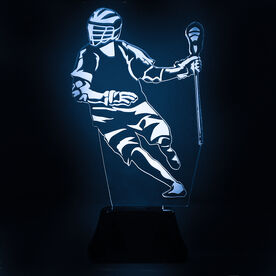 Guys Lacrosse Acrylic LED Lamp Player