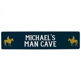 "Personalized Aluminum Room Sign - Man Cave (4""x18"")"