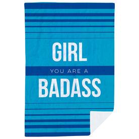 Running Premium Blanket - Girl You Are a Badass