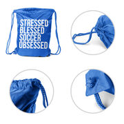 Soccer Sport Pack Cinch Sack - Stressed Blessed Soccer Obsessed
