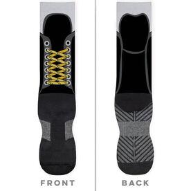 Hockey Printed Mid-Calf Socks - Hockey Skate