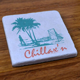 Lacrosse Natural Stone Coaster Chillax'n Beach Female