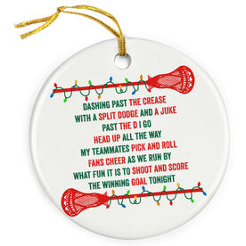 Guys Lacrosse Porcelain Ornament Players Jingle All The Way