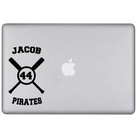 Baseball Crossed Bats Removable ChalkTalkSPORTSGraphix Laptop Decal