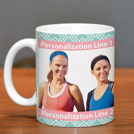 Skiing Coffee Mug Custom Photo with Pattern