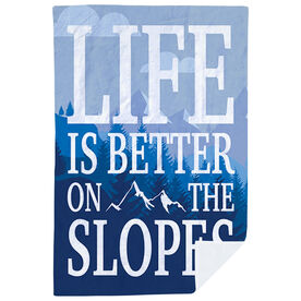 Skiing & Snowboarding Premium Blanket - Life Is Better On The Slopes