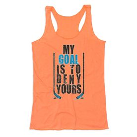 Hockey Women's Everyday Tank Top - My Goal Is To Deny Yours