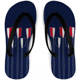 Crew Flip Flops Oars on Navy