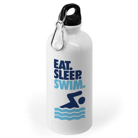 Swimming 20 oz. Stainless Steel Water Bottle - Eat. Sleep. Swim.