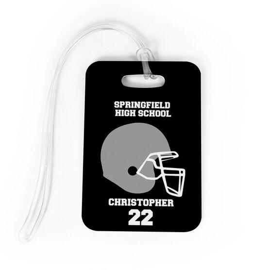 Football Bag/Luggage Tag - Personalized Team Helmet