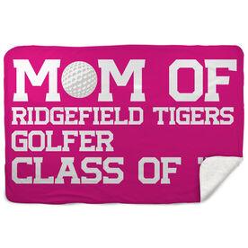 Golf Sherpa Fleece Blanket - Personalized Golf Mom