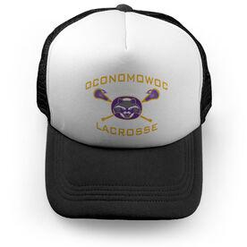 Trucker Hat - Oconomowoc Lacrosse Logo (Black)