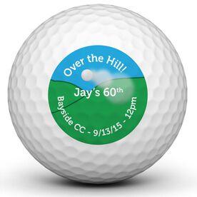 Hit It Over The Hill Birthday Golf Balls