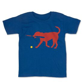 Softball Toddler Short Sleeve Tee - Pitch The Softball Dog