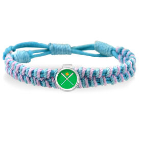 Softball Crossed Bats Adjustable Woven SportSNAPS Bracelet
