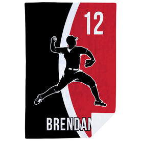 Baseball Premium Blanket - Personalized Pitcher