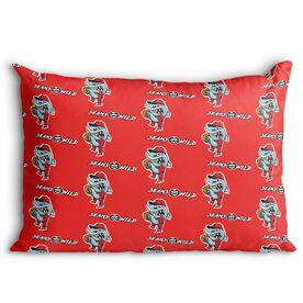 Seams Wild Baseball Pillowcase - Rojo Chomp (Pattern)