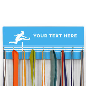 Hooked On Medals Hanger Hurdler With Your Text