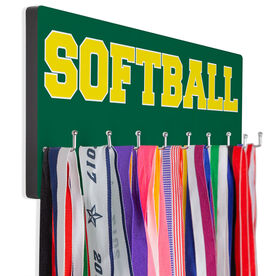 Softball Hooked on Medals Hanger - Word