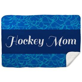 Hockey Sherpa Fleece Blanket Mom Stripe