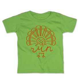 Running Toddler Short Sleeve Tee - Runner Turkey