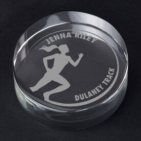 Track and Field Personalized Engraved Crystal Gift - Customized Runner (Female)