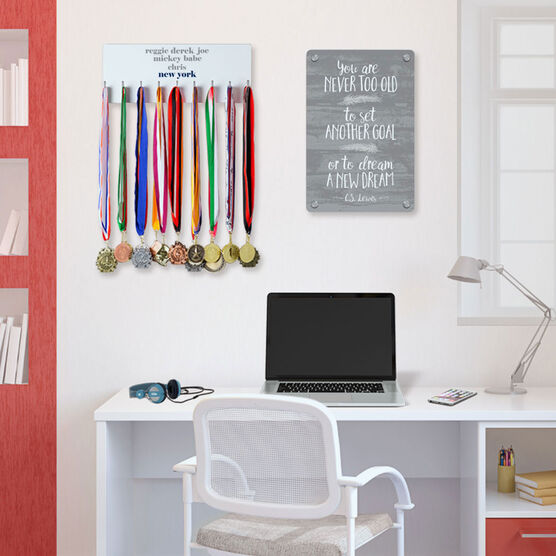 Baseball Hooked on Medals Hanger - Personalized New York Mantra
