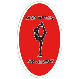 Cheer Oval Car Magnet Personalized Back Foot Grab